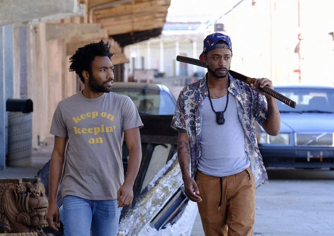 "Donald Glover (Earnest) and Lakeith Stanfield (Darius) in the Atlanta episode ""The Streisand Effect."""