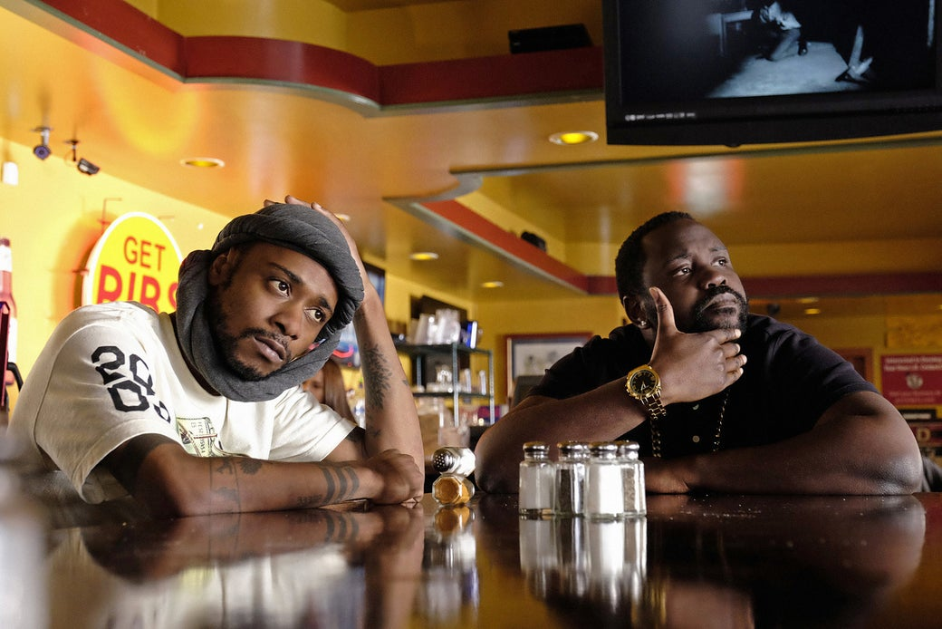 Stanfield and Brian Tyree Henry on Atlanta.