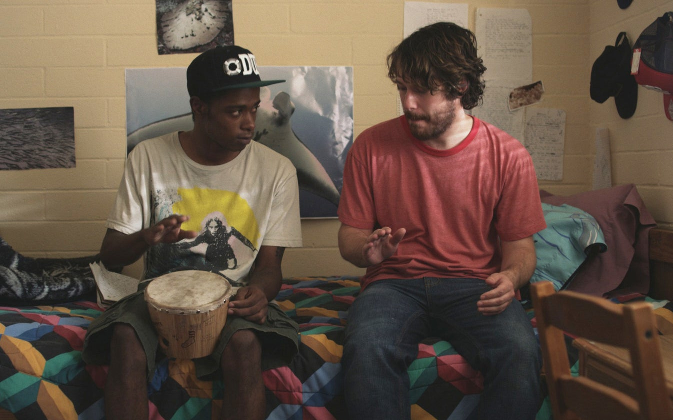 Lakeith Stanfield and John Gallagher Jr. in Short Term 12.