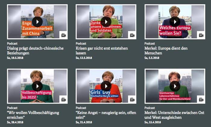Für Den Podcast Der Bundeskanzlerin Sind Eine Million Euro An Eine