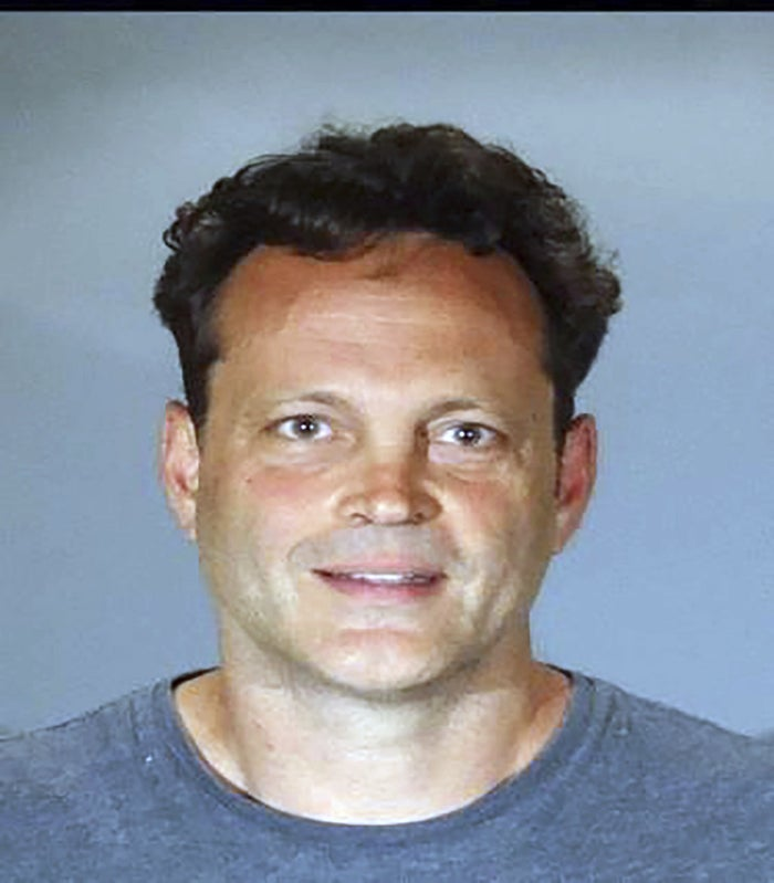A booking photo for Vince Vaughn released by the Manhattan Beach Police Department Sunday.