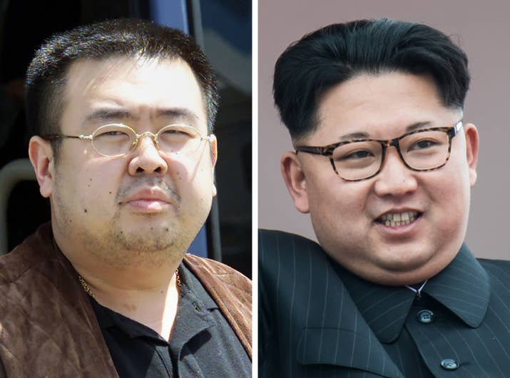 Kim Jong Nam (left) and his younger half brother Kim Jong Un.