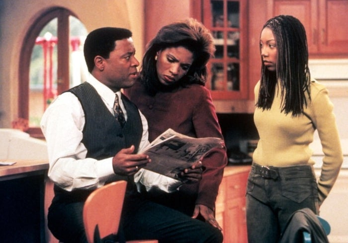 Show: MoeshaOn air: 1996–2001It truly pains me to see Frank this far down the list, because he really was a great father to Moesha (Brandy Norwood) and Myles (Marcus T. Paulk) for most of the series. When we meet him in Season 1, he's a widower raising two children and had recently remarried, much to his teenage daughter's dismay. Sure, he was uptight and overly strict at times, but there was no question that he loved Moesha and did an admirable job balancing her rocky relationship with her new stepmother, who honestly never did anything to deserve Moesha's constant attitude in the early episodes. But then came Season 5 when their troubled cousin Dorian (Ray J) comes to live with them after running away from his mom (*sigh*). At first, it seems admirable of Frank to take on raising his sister's kid, but then it's revealed that Dorian is actually Frank's son, who he had after cheating on his late wife. It's a twist so messy and black you'd think Tyler Perry wrote it. Anyway, there's no coming back from hiding your love child by sending him to live with your sister.