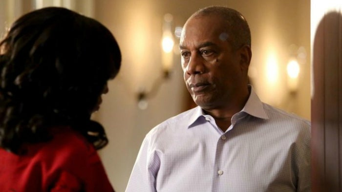 """Show: ScandalOn air: 2012–2018You're damn right I'm ranking Papa Pope above Ghost! He may also be a murderer, but unlike Ghost, he was doing it to protect the nation and managed to keep his daughter alive while doing so. He even saved everyone's ass from prison in the finale by taking credit for B613. Sure, he kept Olivia's (Kerry Washington's) mother locked in a cell for decades and told Liv she was dead, buuut Mama Pope (Khandi Alexander) was an unhinged assassin who ultimately made Liv do the same to her. Besides, he had great taste in music and wine and had a Shakespearean soliloquy for every occasion. There's also no way I could rank the black dad who gave the best """"twice as good"""" speech on TV, last."""