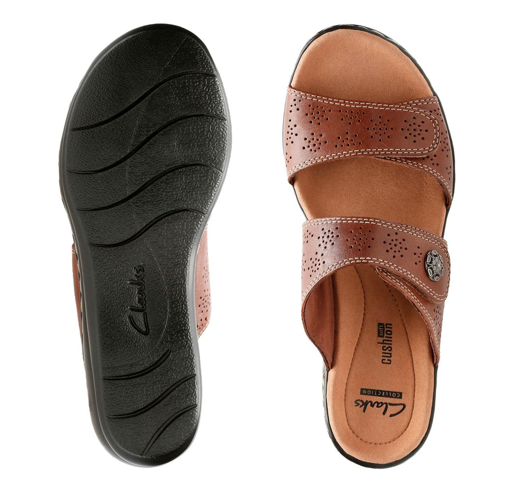 I got a really comfy pair of Clark shoes. They saved my feet.—tiffanyc4a06d980eGet these slip-on sandals from Clark's for $69.95 (three colors, sizes 5-12), or a similar style on Amazon for $31.01+ (seven colors, sizes 5-9).