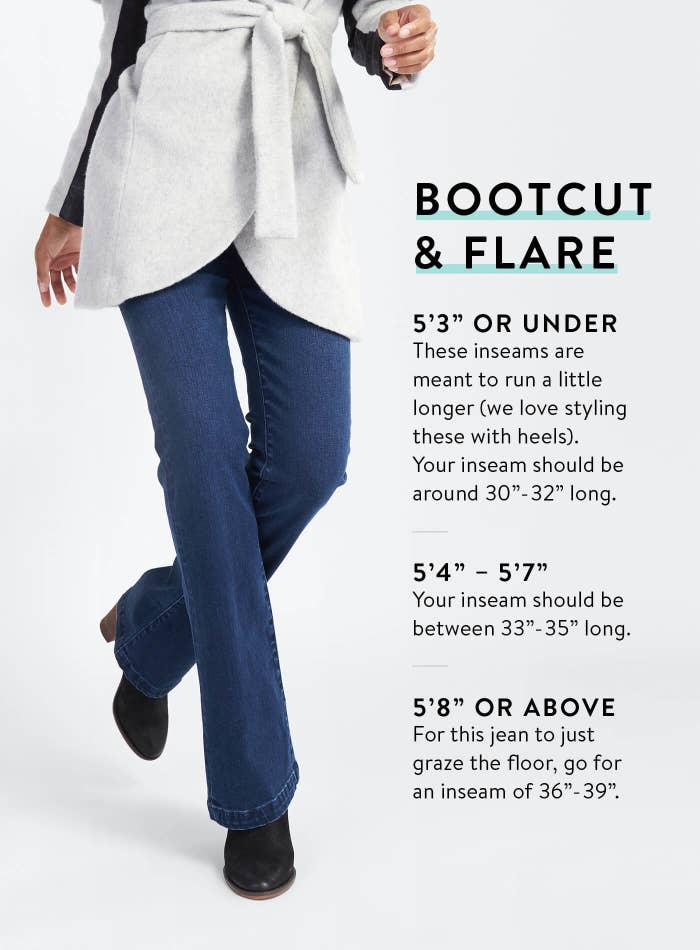 52e1277690ae9 Compare your own measurements to a store s inseam descriptions for bootcut  and flares — these tend to run a little long so it s important to find a  close ...