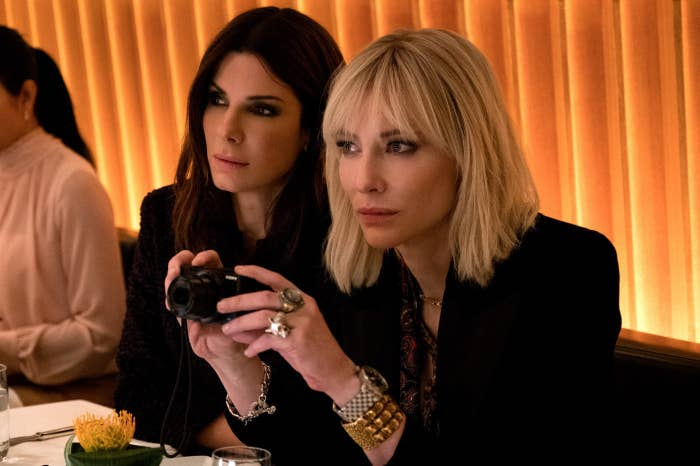 Sandra Bullock and Cate Blanchett in Ocean's 8.