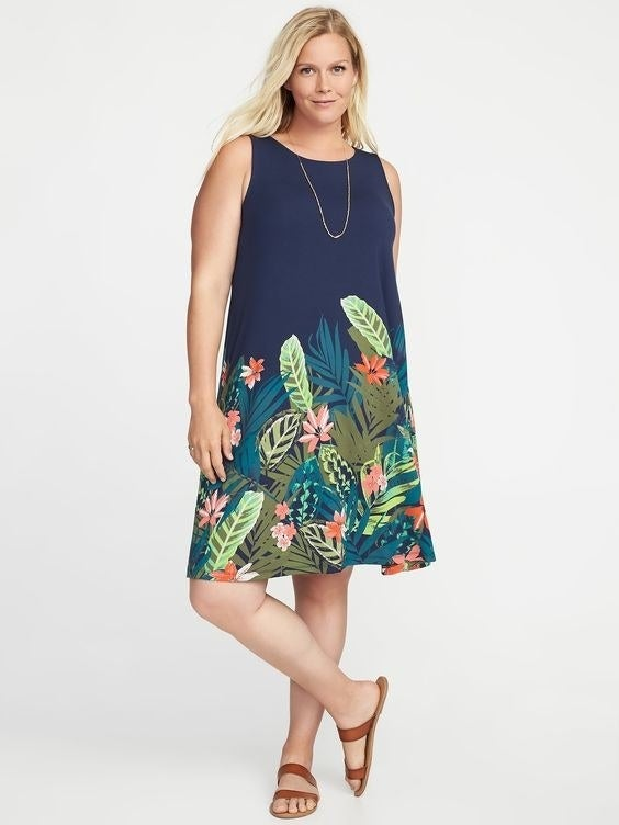 """Promising review: """"This dress is exactly what I needed. I bought it for a specific occasion. The fit is great and it is comfy and stylish. It's just what I was looking for!"""" —CaligurlGet it from Old Navy for $15+ (available in sizes 1X-4x and in five colors)."""