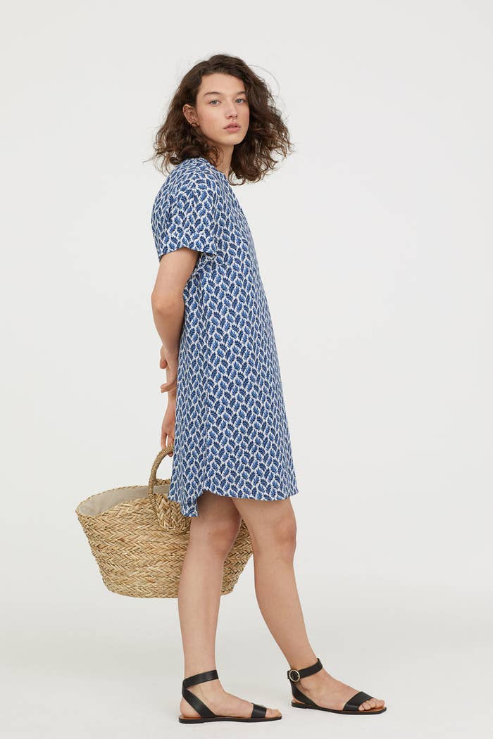 039edd9c5e0 A V-neck straight-cut dress that ll double as your new favorite long after  wedding season is over.