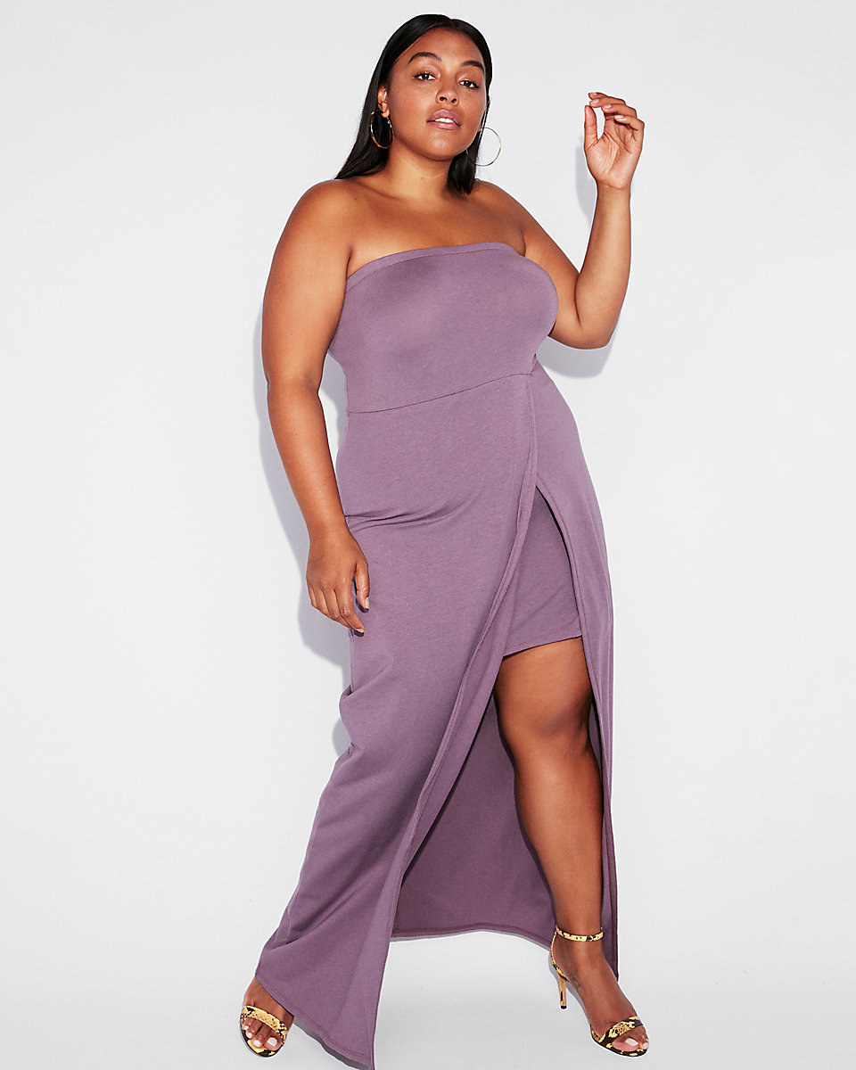 """Promising review: """"This is in such a rich and 'now in' color. It's great for summer. It's a really nice elegant yet simple dress."""" —SharzephGet it from Express for $35.94 (originally $59.90; available in XXS-XL and in two colors)."""