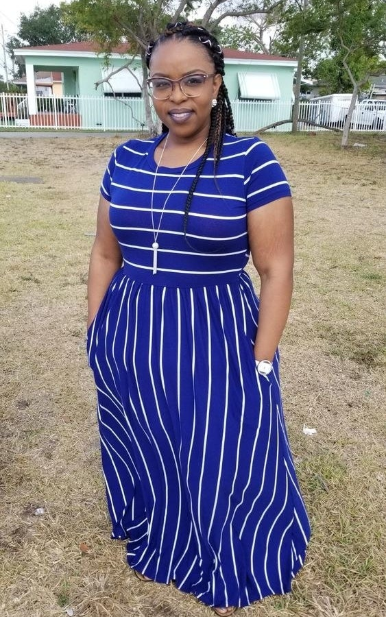 """Promising review: """"I'm pretty tall (6ft) with a large chest, and found the XL to be fine for me! The pockets are amazing. Every dress should have pockets! The dress is of great value. I've worn it to outdoor weddings and also to work."""" —Alexandra T.Get it from Amazon for $18+ (available in sizes S-XL and in seven colors)."""