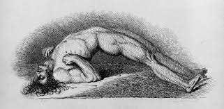 Christen im Mittelalter glaubten, dass Dämonen körperlose Geister seien, die oftmals die seelenlosen Körper der Toten bewohnen. Wie eine Art bizarre Abwandlung der Auferstehung Jesu. Tote, von denen angenommen wurde, dass sie besessen waren – also alle, deren Körper sich nach dem Tod verkrampfte – wurden ohne Zeremonie entsorgt.