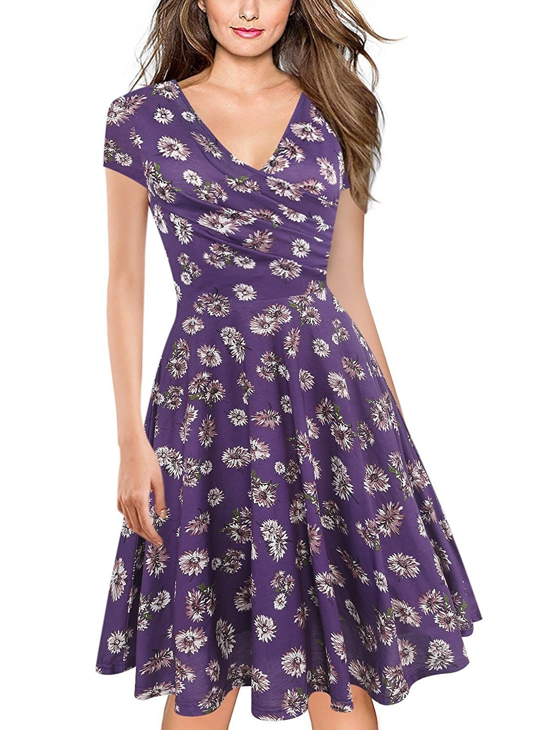 """Promising review: """"I LOVE THIS DRESS! The design is so pretty and it works well for any occasion. I bought this to wear to my brother's spring wedding and I was not disappointed. It fits exactly as described. It is made of soft and comfortable fabric — not itchy or irritating. I cannot say enough about how much I love this dress."""" —Amazon CustomerGet it from Amazon for $13.99 (available in sizes S-XXL and in 21 colors)."""