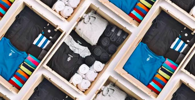 Each purchase includes a four-pack of socks, three-pack of boxers or briefs, three-pack of shirts, and a wildcard option. Check out this BuzzFeeder's review here! Get a drawer of fixin's from Basic Outfitters for $70.