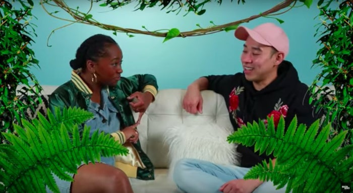 Kane asked her to use some words to describe the vibe she was going for, and they were: jungle, with a touch of palm springs (by the pool). YAASSS!