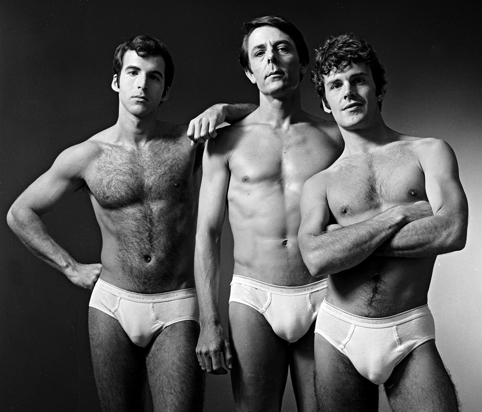 The cast of And Puppy Dog Tails, an off-Broadway gay liberation play, poses for a portrait during the 1969 theatrical season.