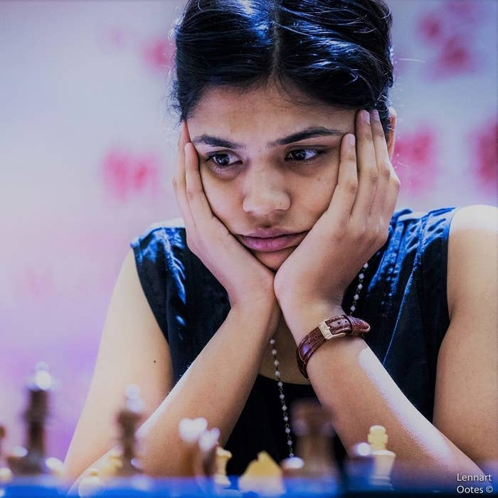 (This is her competing in the Asian Individual Chess Championship in China, last year.)