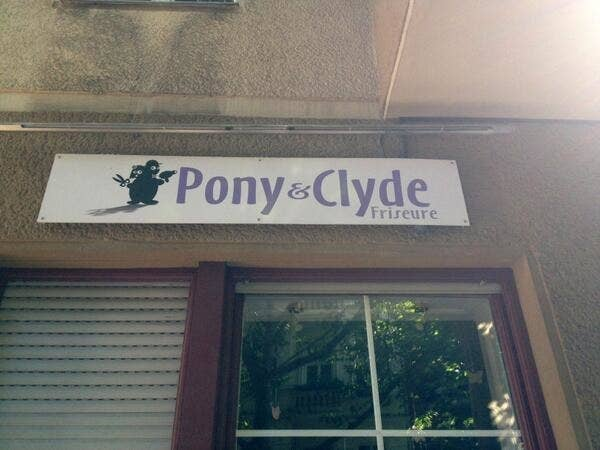 Friseur pony und clyde