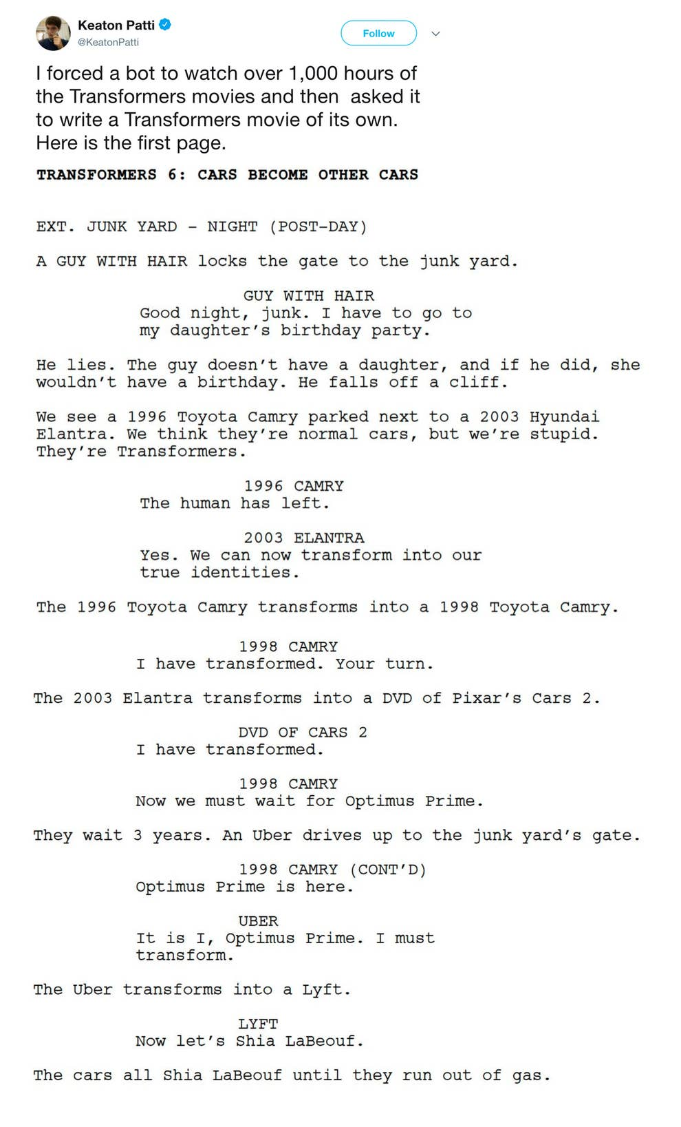 These Hilarious Scripts Written By A