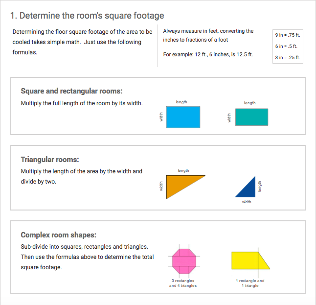A guide on how to determine a room's square footage for square, rectangular, triangular, and more complex room shapes
