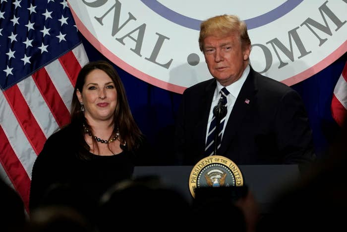 Republican National Committee Chair Ronna McDaniel and President Trump.