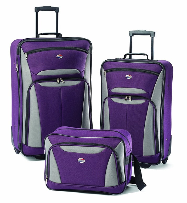 """Promising review: """"My husband and I took this luggage set to Mexico with us just last week, and it held up very well! The shoulder bag is the perfect size for toiletries and as a carry-on bag, and the largest one is good for combining my hubs and my shirts and pants. The smaller roller bag was used for other things and flip flops. It was perfect! Great price! They look good and sturdy. We had no problems with the wheels. They rolled around with us on multiple different floors and changed direction with ease. What more could you ask for?"""" —A'n'A HansenPrice: $61.57+ (available in three colors)"""