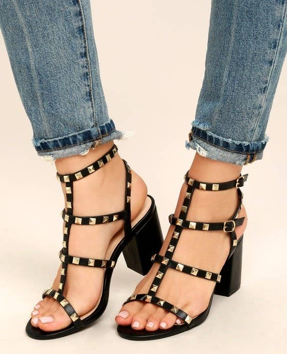 70d940c18fd7 Studded strappy sandals that ll make you feel like a stud