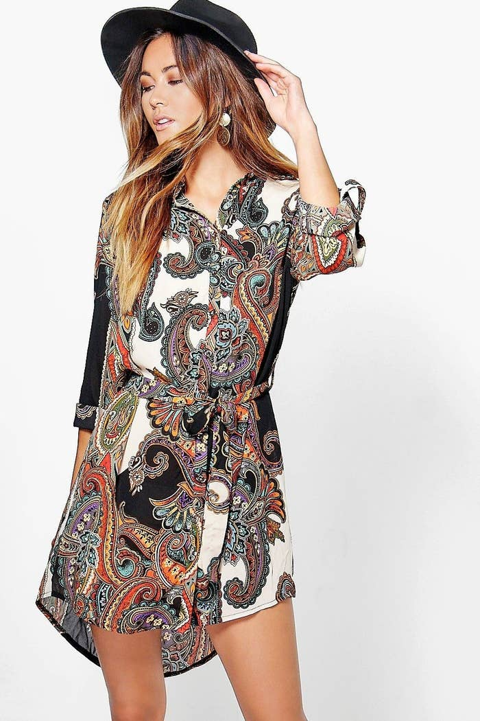1890af74cfe A paisley shirt dress you won t be able to throw in your shopping cart fast  enough.
