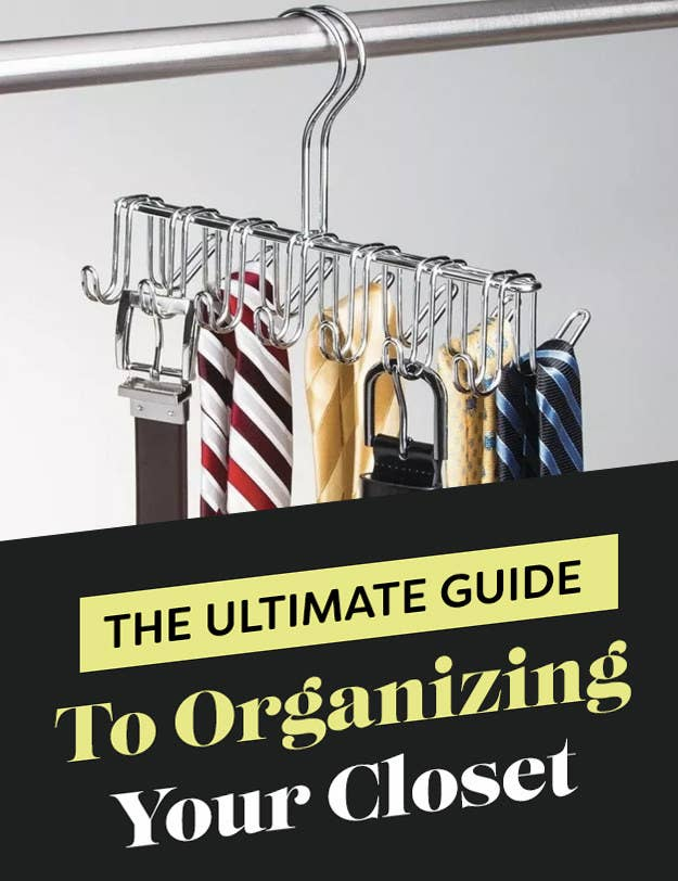 "Header that says ""The Ultimate Guide to Organizing Your Closet"""