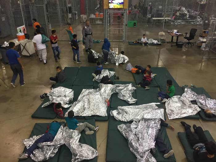 A view inside a US Customs and Border Protection detention facility shows children at Rio Grande Valley Centralized Processing Center in Texas.