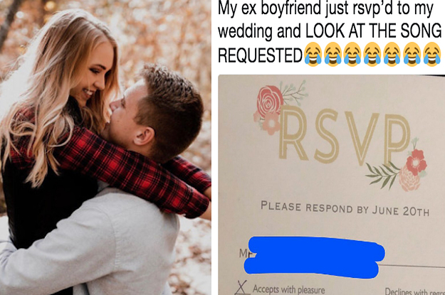 This Guy RSVP'd To His Ex-Girlfriend's Wedding With A Joke