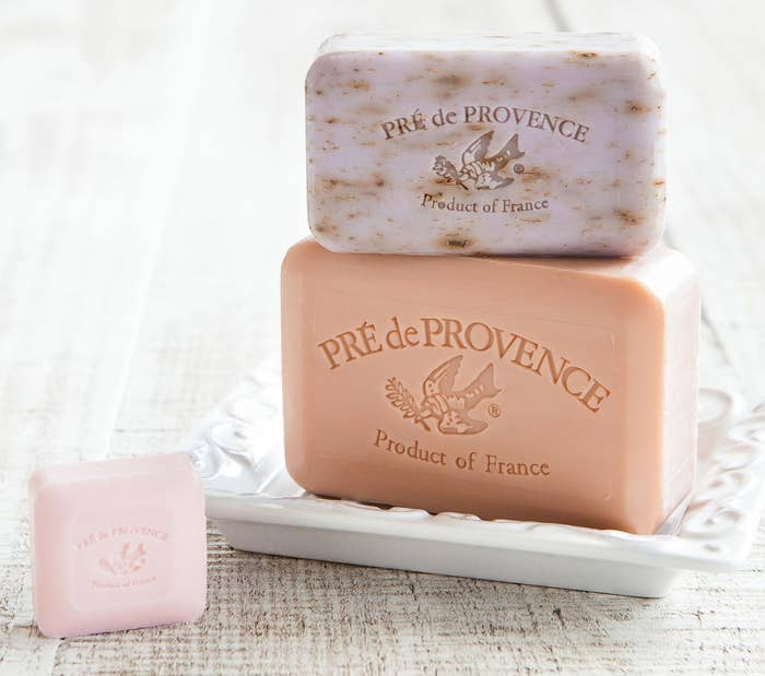"Psst, this soap is infused with shea butter to soften and moisturize your skin. Promising review: ""This is French soap at its best. It leaves my skin soft and moisturized, the bar lasts way longer than I thought it would, and the scent is great! You really have to try it to believe it — it's worth every cent."" —HelloKitty Price: $7.50+ (available in 41 scents)"