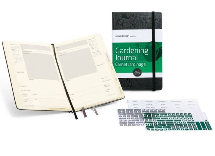 You can start with a simple spiral notebook, of course. Or get one specifically designed for tracking gardens, $20.99 on Amazon.