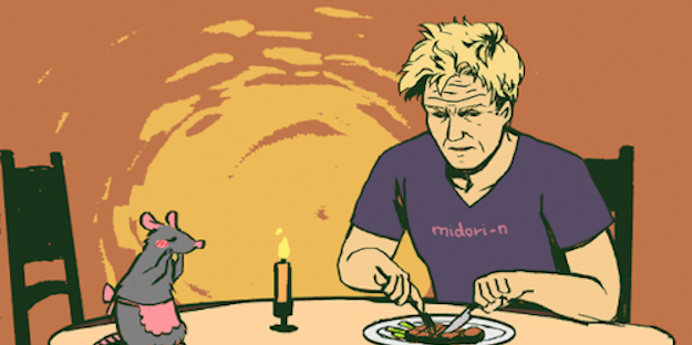 Someone Drew Remy From Ratatouille And Gordon Ramsay Meeting And Everyone Loves It