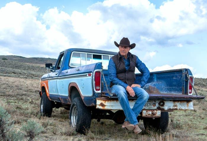 Kevin Costner as ranch owner John Dutton.