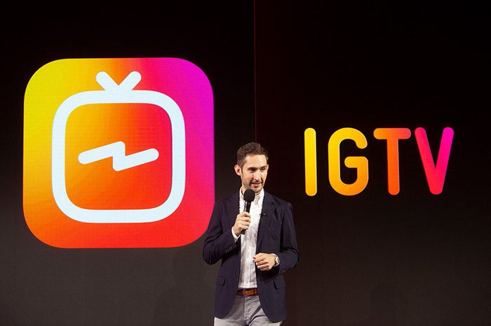 Instagram's Kevin Systrom announces IGTV.