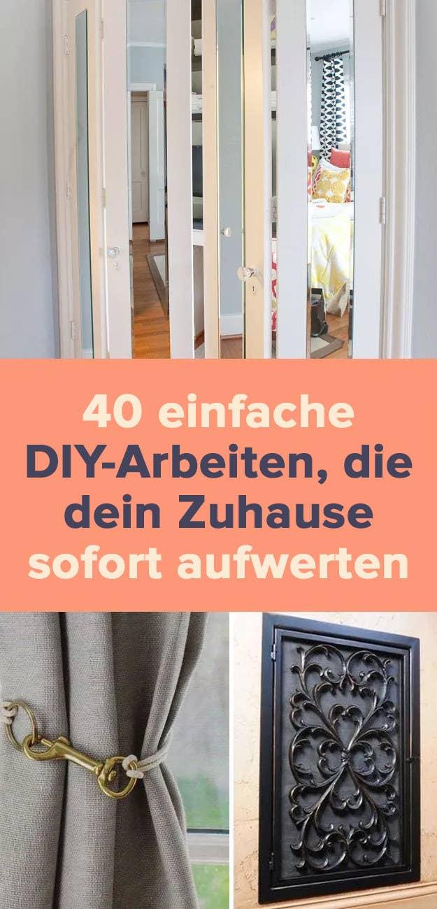 20 einfache DIY Arbeiten, die dein Zuhause sofort aufwerten
