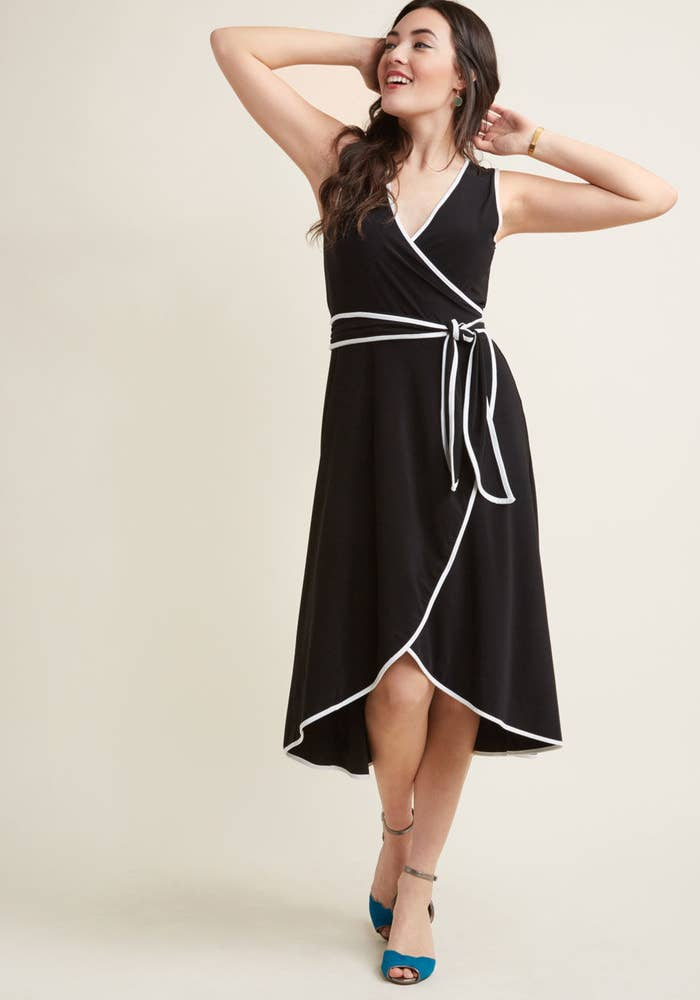 f076704c153e A floaty midi with white piping ready for any summer soirée that comes your  way. Promising review   quot It ...