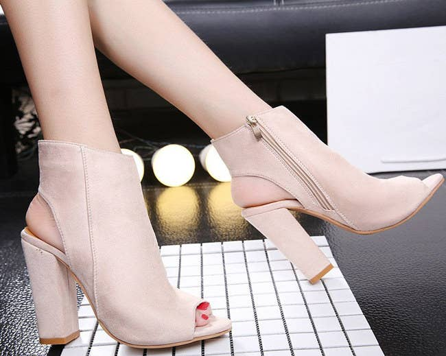 These suede beauties will be your new obsession.See a promising review here.Price: $18.63+ (available in sizes 3-11 and in pink, black, and nude)