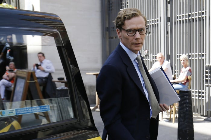 Cambridge Analytica's former CEO Alexander Nix before giving evidence to a UK parliamentary committee earlier this month.