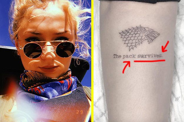 It Turns Out Sophie Turner S Game Of Thrones Tattoo Isn T A Spoiler After All