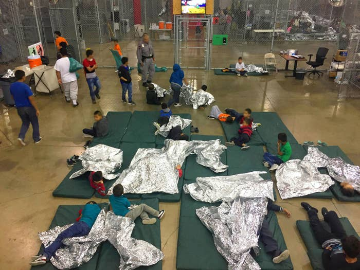 Children at the Rio Grande Valley Centralized Processing Center, a US Customs and Border Protection facility in Rio Grande City, Texas, on June 17.