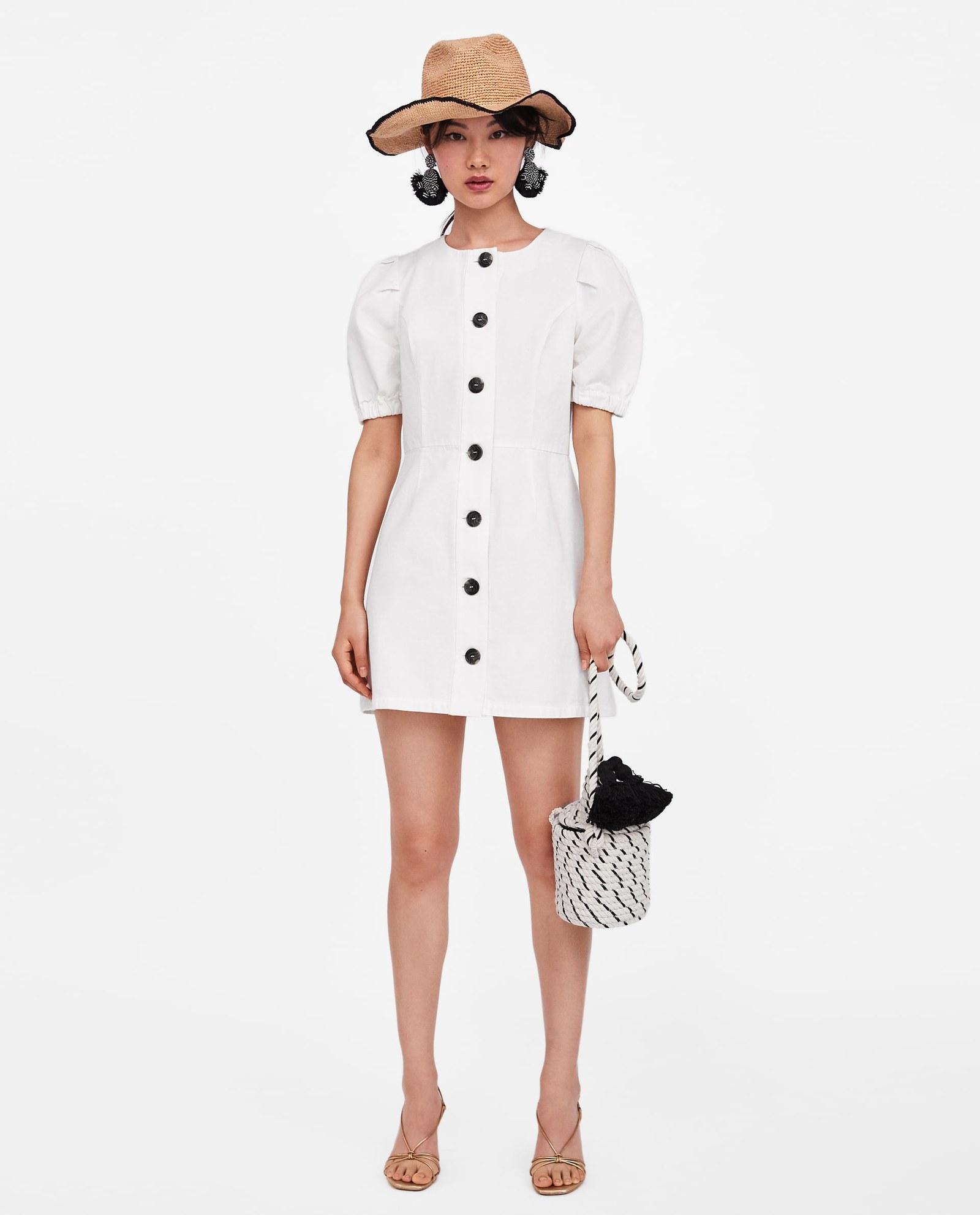 330d6a57a2f Zara Draped Linen T Shirt Dress - BCD Tofu House
