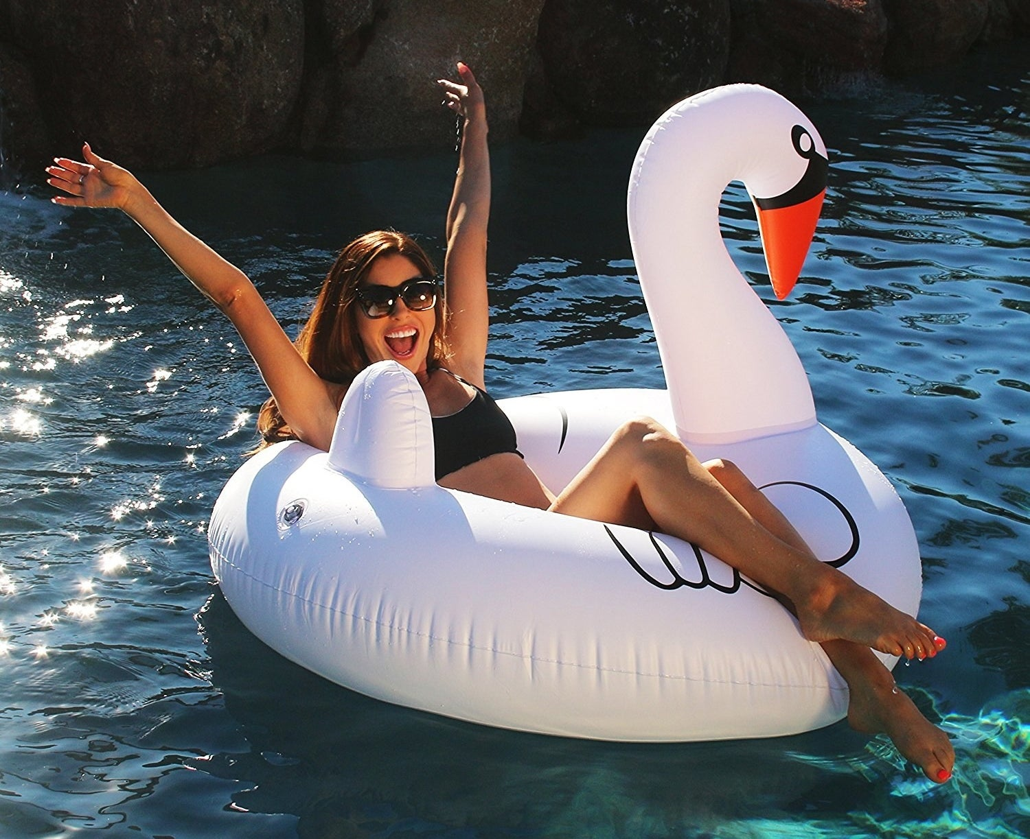 """Promising review: """"Buy it. You cannot go wrong with this swan. All my friends want to take selfies on the swan. I've gotten to use it on several different occasions including an all-day float trip down a river. Still in great condition!"""" —Avery GeeGet it from Amazon for $19.99."""