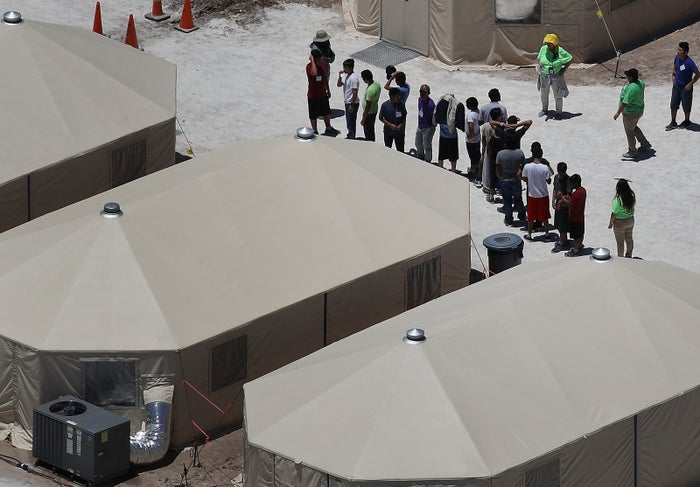 A tent facility in Tornillo, Texas, used to house immigrant children separated from their parents.