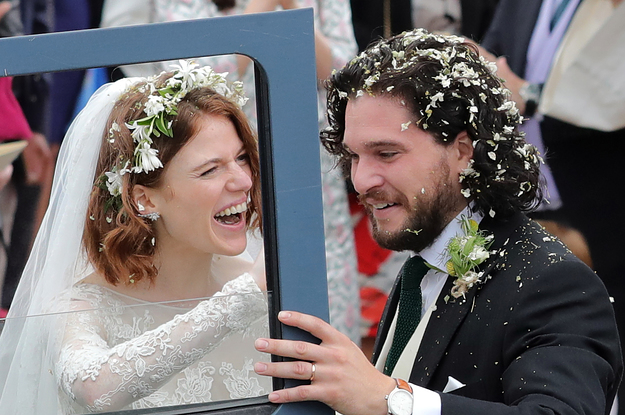 """""""Game Of Thrones"""" Stars Rose Leslie And Kit Harington Just Got Married"""