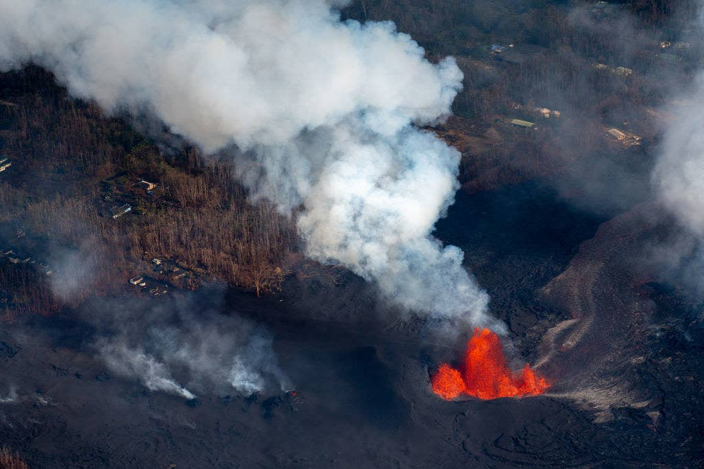 A plume of sulfuric acid, which is extremely dangerous in high concentrations, is also rising from a fissure. Last week, officials said 25,000 tons of sulfuric acid was emitted from the volcano.