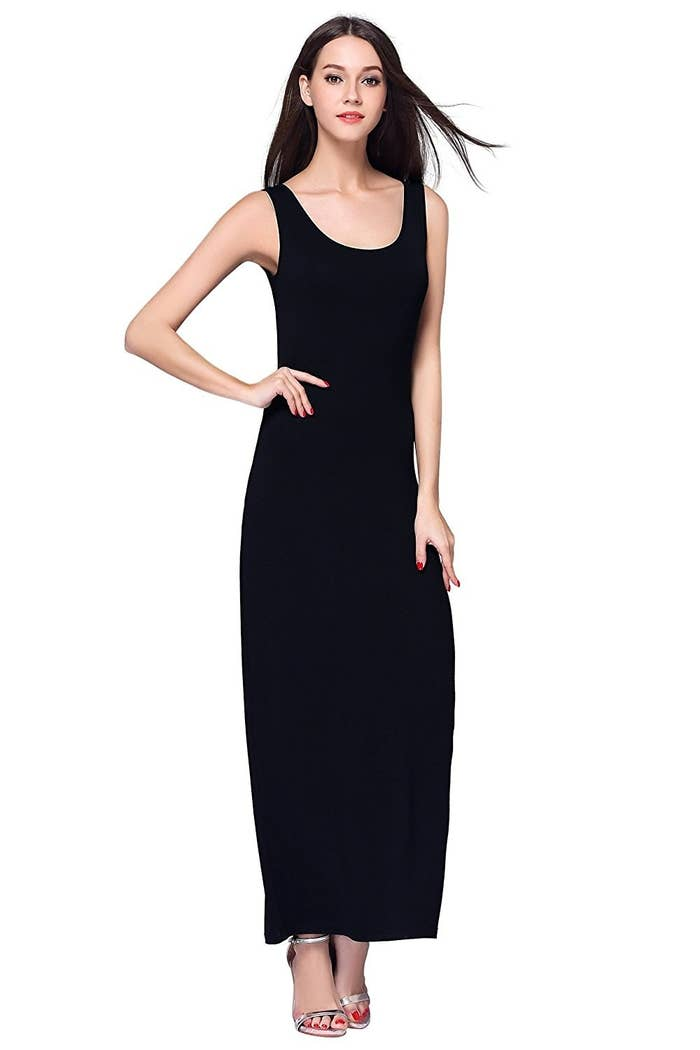 8a86efb829e A super-soft and stretchy tank top maxi dress to throw on when you re  running late and have