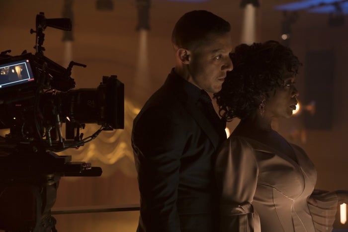 Alfre Woodard and her onscreen lover Theo Rossi as Mariah and Shades.