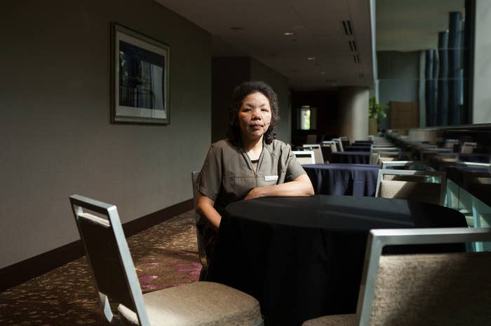 Minh Vuong, a housekeeper at the Westin Seattle.